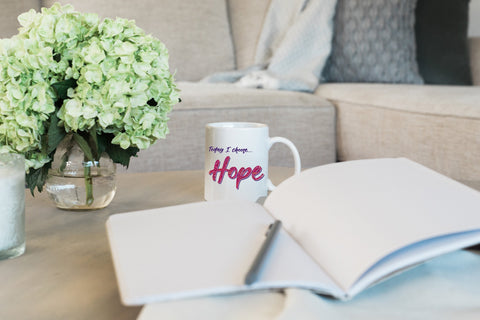 """Today I Choose Hope"" Ceramic Mug - Drinkware - - -"