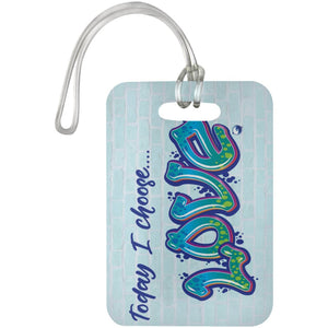 """Today I Choose Love"" - Luggage Bag Tag - Bags - White - One Size -"