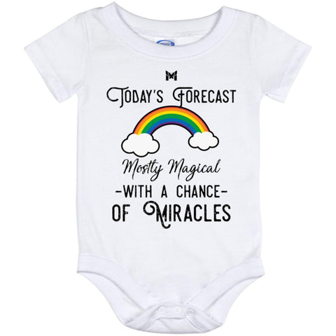 """Today's Forecast - Mostly Magical"" Baby Onesie-Apparel-The Miracles Store"