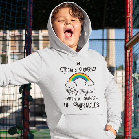 """Today's Forecast - Mostly Magical"" Youth Unisex Hoodie"