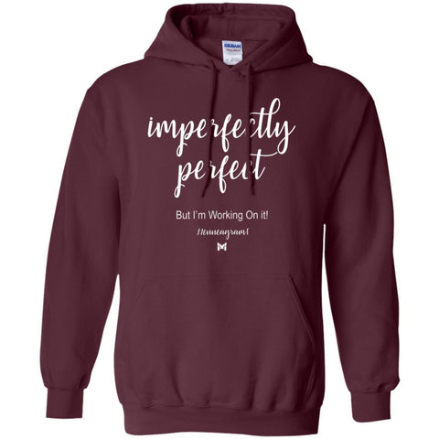 "Type 1 - ""Imperfectly Perfect"" Unisex Hoodie-Apparel-Maroon-S-The Miracles Store"