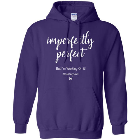 "Type 1 - ""Imperfectly Perfect"" Unisex Hoodie-Apparel-Purple-S-The Miracles Store"