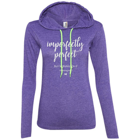 "Type 1 - ""Imperfectly Perfect"" Women's Lightweight T-Shirt Hoodie-Apparel-Purple-S-The Miracles Store"