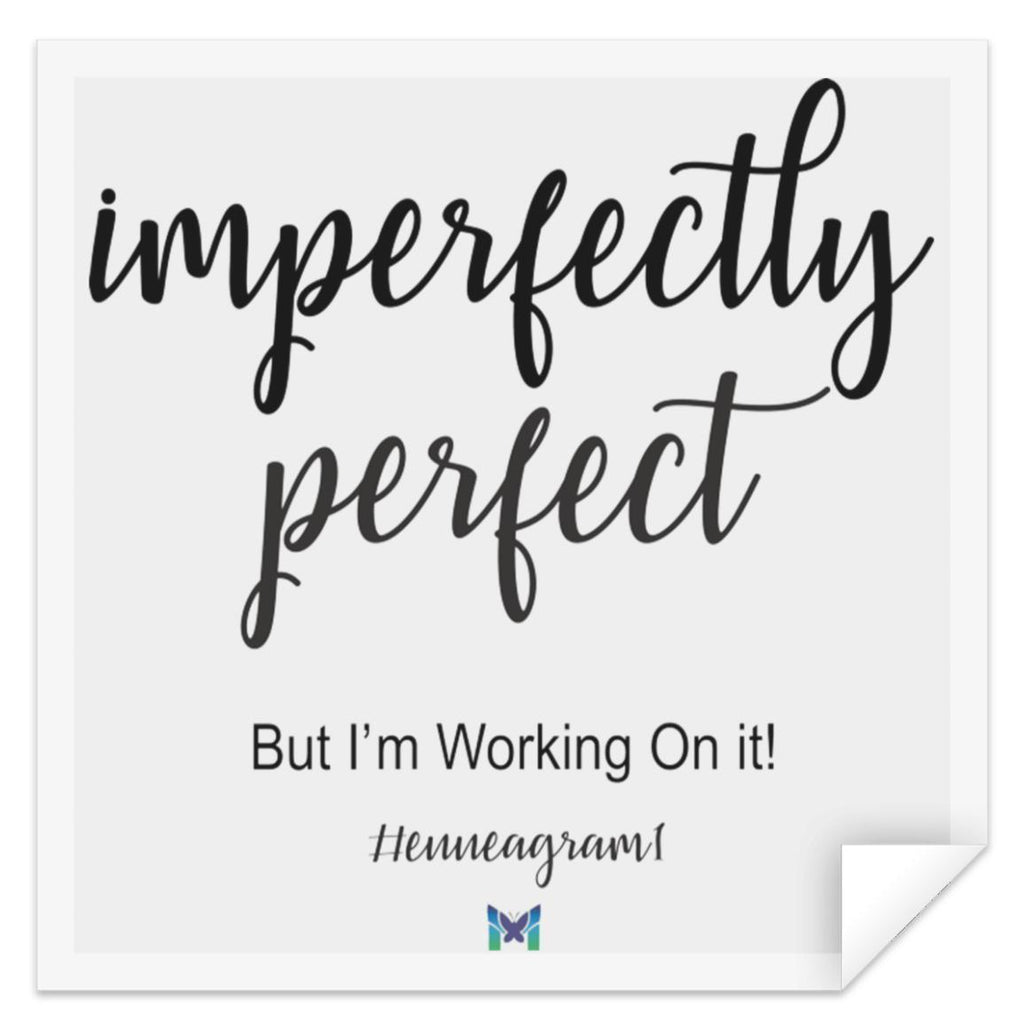 "Type 1 Sticker - Imperfectly Perfect-Apparel-Small (3"" x 3"")-The Miracles Store"