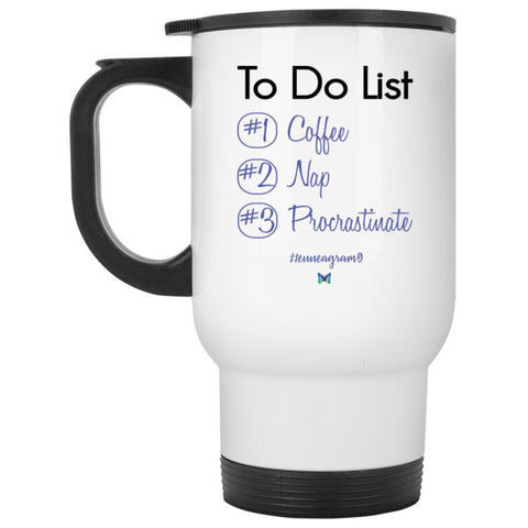 "Type 9 ""To Do List"" - Travel Mug-Drinkware-Pink-The Miracles Store"