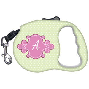 Unique Gifts - Monogrammed Dog Leash-Pet Accessories-Pink/Green-The Miracles Store