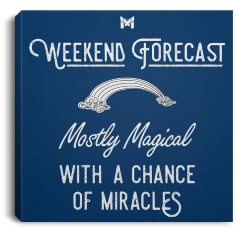 """Weekend Forecast"" - Canvas Wall Art Print-Apparel-The Miracles Store"