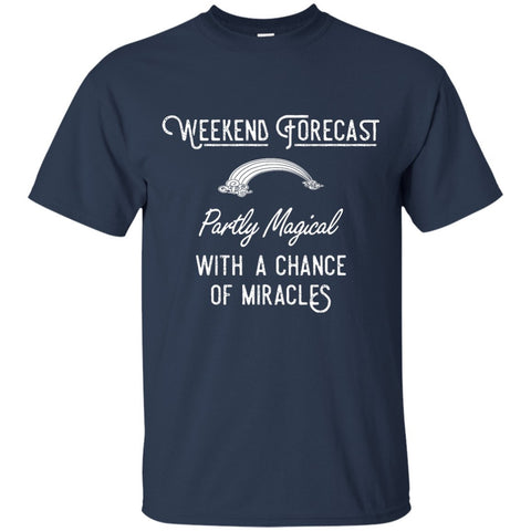Weekend Forecast Crew Neck Tee - Unisex - Short Sleeve - Maroon - Small -
