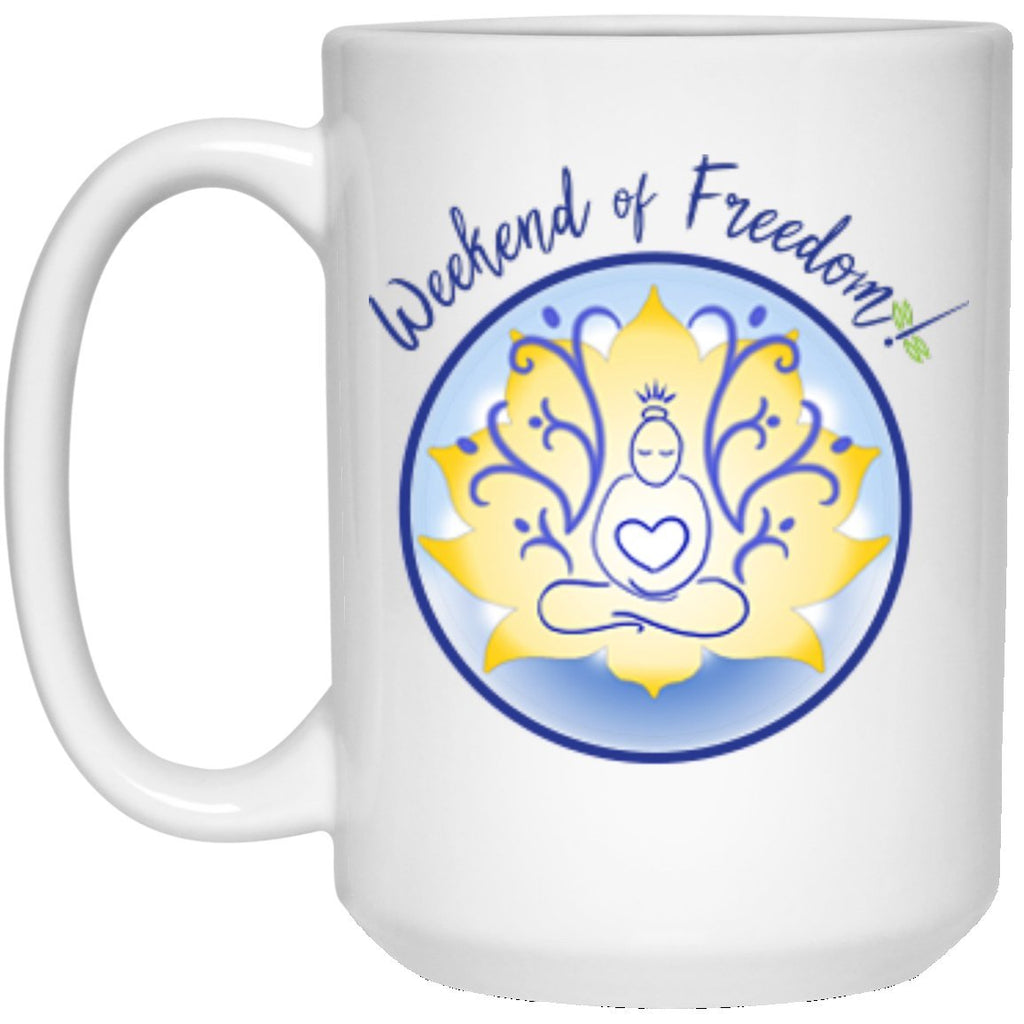 WOF 15oz. White Ceramic Mug - Drinkware - White - One Size -