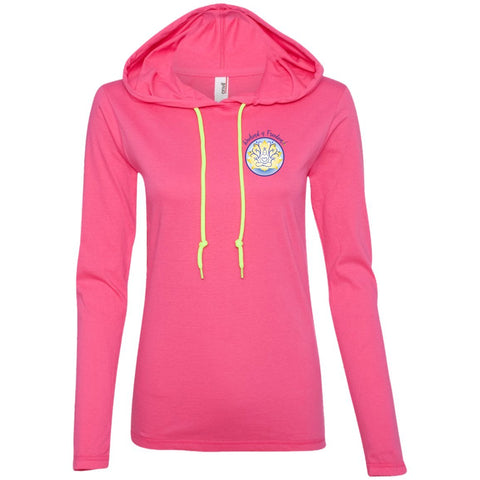 WOF Lightweight Hooded T-shirt - T-Shirts - Hot Pink/Neon Yellow - Small -