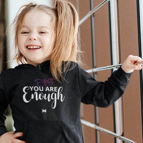 """You Are Enough"" Hoodie for Kids & Toddlers-Apparel-The Miracles Store"