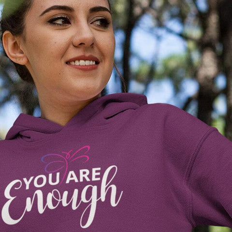 """You Are Enough"" Hoodie Sweatshirt-Sweatshirts-The Miracles Store"