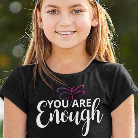 """You Are Enough"" Kids T-Shirt-T-Shirts-The Miracles Store"