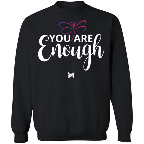 """You Are Enough"" Unisex Crewneck Sweatshirt-Sweatshirts-The Miracles Store"