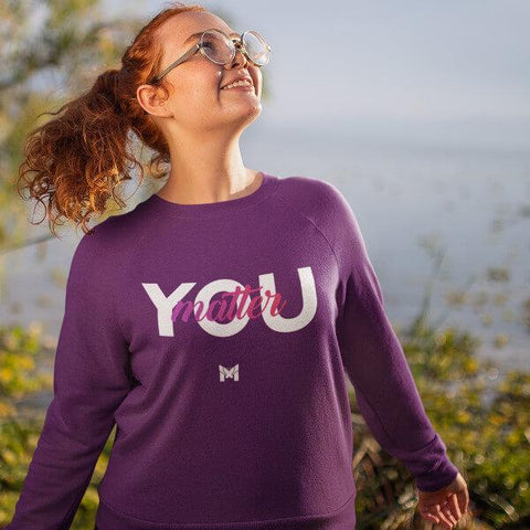 """You Matter"" Unisex Crewneck Sweatshirt-Sweatshirts-The Miracles Store"