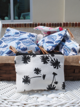 Palm Canvas Pouch: Small - Summertime Boutique