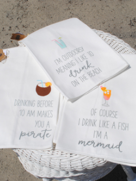 Island Time Drinking Hand Towels - Summertime Boutique