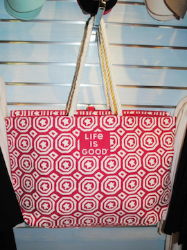 Pink & White Life Is Good Tote Bag - Summertime Boutique