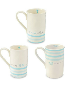Ceramic Blue Sea Mug - Summertime Boutique