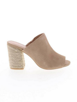 Raffia Heeled Slip On - Summertime Boutique