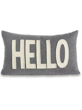 Hello Canvas Pillow - Summertime Boutique