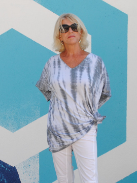 Light Grey Tunic - Summertime Boutique