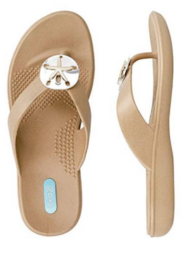 Beach Sand Dollar Flip Flop - Summertime Boutique