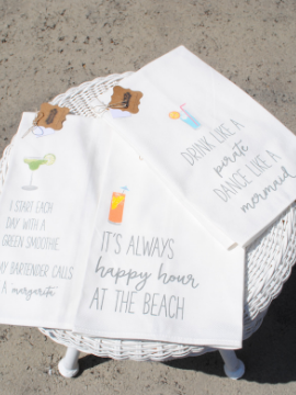 Beach Cottage Hand Towels - Summertime Boutique