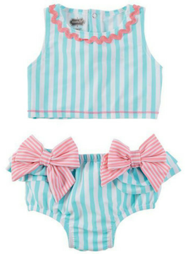 Striped 2-Piece Swimsuit - Summertime Boutique