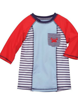 Nautical Crab Rash Guard - Summertime Boutique