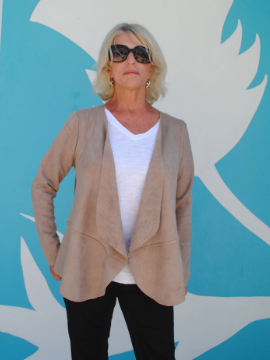 Suede Jacket in Neutral - Summertime Boutique