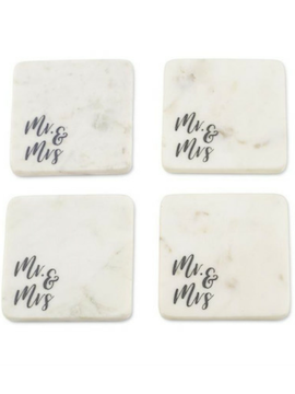 Mr. and Mrs. Marble Coaster - Summertime Boutique