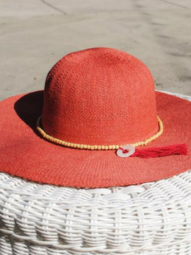 Coral Sun Hat - Summertime Boutique