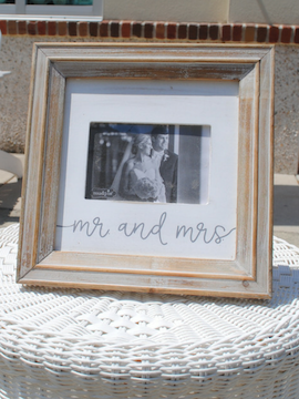 Mr & Mrs Wood Picture Frame - Summertime Boutique