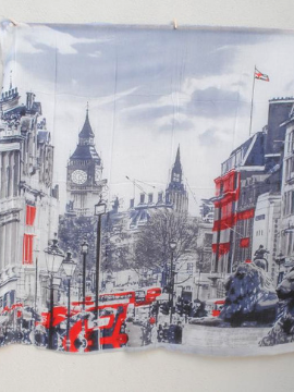 """Streets of London"" - Uniquely Designed Scarf - Summertime Boutique"