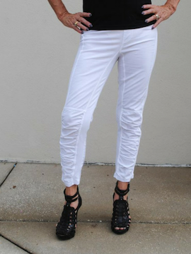 """J"" Cropped Pant White - Summertime Boutique"