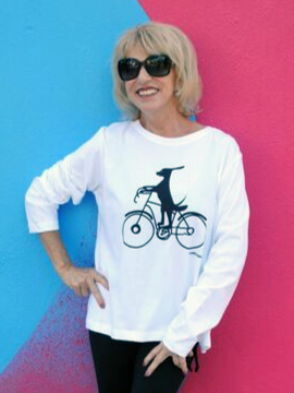 Doggie Bike Lane Top - Summertime Boutique