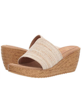 Raffia Wedge Banded Slip On - Summertime Boutique