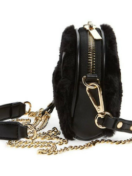 Black Fur Belt Bag - Summertime Boutique