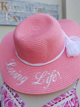 """Loving Life!"" Floppy Hat - Summertime Boutique"
