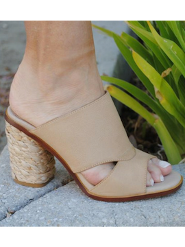 Beige French Slip On Heel - Summertime Boutique