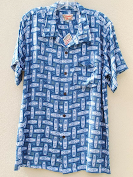 Tiki Blue Top - Summertime Boutique