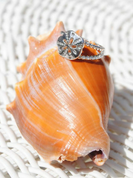 Silver Sand Dollar Ring - Summertime Boutique