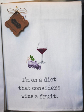 Wine Diet Dish Towel - Summertime Boutique