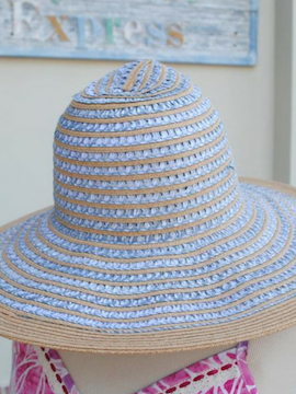 Wave Woven Full Brim Hat - Summertime Boutique