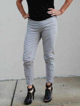 "Grey Mist Cropped ""J"" Pant - Summertime Boutique"