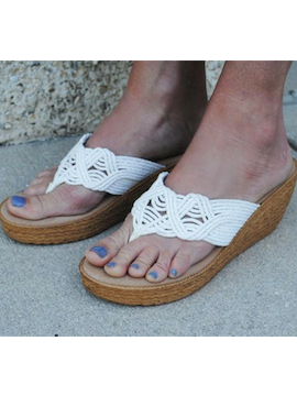 Raffia Woven Wedge - Summertime Boutique