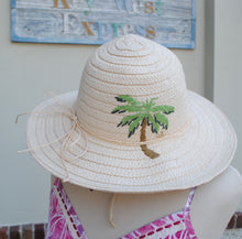 Load image into Gallery viewer, Green Palm Full Brim Hat - Summertime Boutique