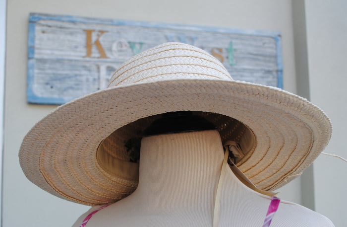 Green Palm Full Brim Hat - Summertime Boutique