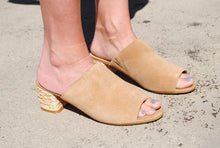 Load image into Gallery viewer, Beige Peep Toe Heel - Summertime Boutique